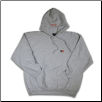 Plus Sized LETTER BLOCK Pullover Hoodie Ash
