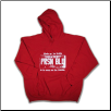 USA PLATE Pullover Hoodie Red w White Logo