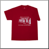 USA PLATE T- shirt Red