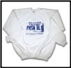 Plus Sized USA PLATE Crew Neck White