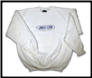 Plus Sized BARBED WIRE Crew Neck White