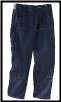 Plus Sized Rinsed BLACK DOUBLE KNEE RIGID work jean w/o suspender buttons