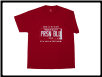 Plus Sized USA PLATE T- shirt Red