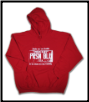 Plus Sized USA PLATE Pullover Hoodie Red w White Logo