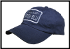 Logo baseball cap with reflective lettering and border