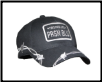 Black Logo baseball cap wrapped with barbed wire