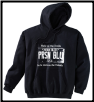 Plus size USA PLATE Pullover Hoodie Black w White Logo