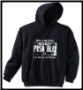 USA PLATE Pullover Hoodie Black w White Logo