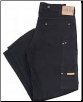 Plus Sized BLACK RINSED work jean w/ suspender buttons