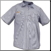Plus Sized HICKORY SHORT SLEEVE button front