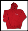 Plus Sized TOUGH AS NAILS Pullover Hoodie Red