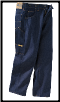 Plus Sized Rinsed BLUE WORK jean w/ suspender buttons