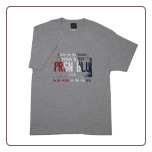 USA PLATE T- shirt w/ Red, White, Blue logo