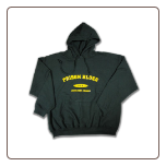 USA PLATE Pullover Hoodie Forest Green with Yellow Logo