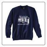 USA PLATE Crew Neck Navy