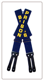 "Plus Sized Prison Blues Printed SUSPENDERS ""Y"" backed"