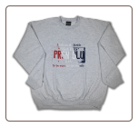 USA PLATE Crew Neck Ash w/ Red, White, Blue logo