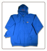 LETTER BLOCK Full Zip Hoodie Royal Blue