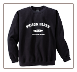 Plus Sized VARSITY BLUE Black Crew Neck Sweatshirt