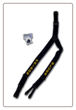 "Prison Blues Printed SUSPENDERS ""Y"" backed"