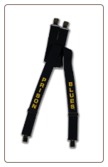 Plus Sized Prison Blues Printed SUSPENDERS gator clip end