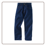 RINSED BLUE BASIC Relaxed Fit Jean